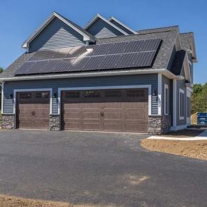 Garage with Solar Panels